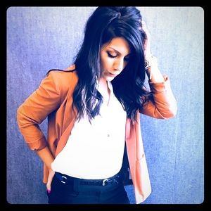 Jackets & Blazers - Tan blazer